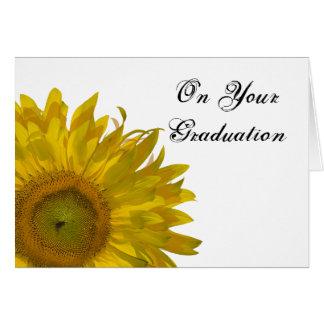 Yellow Sunflower Graduation Congratulations Card