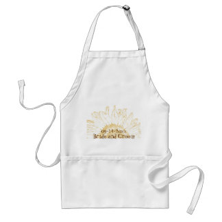 Yellow Sunflower Graphic Wedding Adult Apron