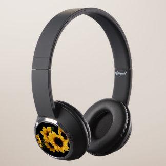 Yellow Sunflower Head Phones