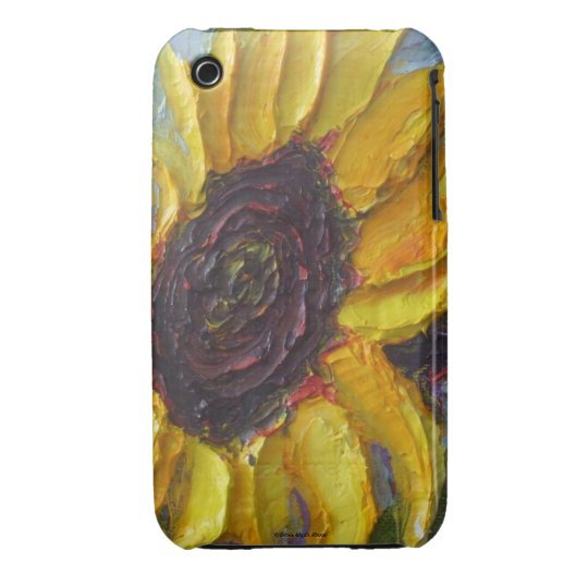 Yellow Sunflower iPhone 3 Case