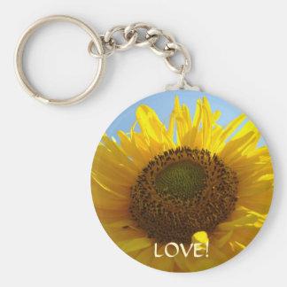 YELLOW SUNFLOWER keychain gift LOVE! Valentines