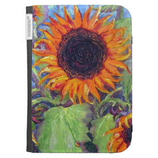 Yellow Sunflower Kindle Case