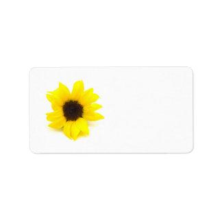 Yellow Sunflower Label