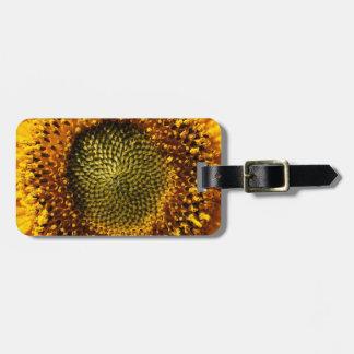 Yellow Sunflower Travel Bag Tag