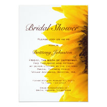 Yellow Sunflower Modern Bridal Shower Invitation