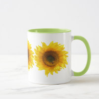 yellow sunflower mug