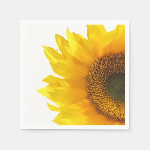 yellow sunflower napkin