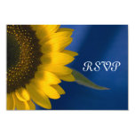 Yellow Sunflower on Blue Wedding Response Card Personalized Announcement
