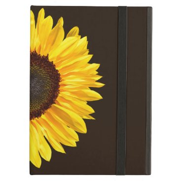 Yellow Sunflower on Chocolate Brown Background Case For iPad Air
