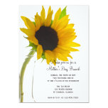 Yellow Sunflower on White Mother's Day Brunch Card