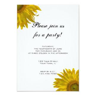 Yellow Sunflower Party Invitation