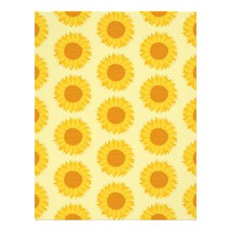 Yellow Sunflower Pattern Personalized Flyer