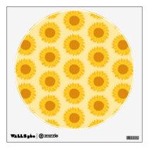 Yellow Sunflower Pattern. Wall Decal