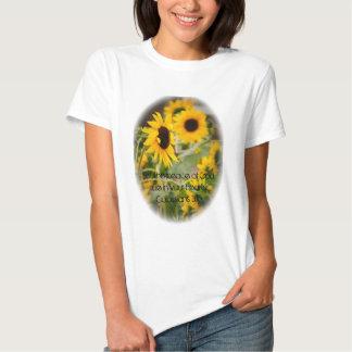 Yellow Sunflower Peace of God Woman's Shirt