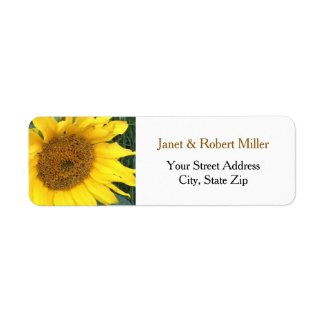 Yellow Sunflower Personalized