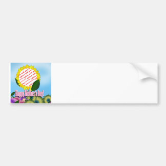 Yellow Sunflower Photo Frame for Mother's Day Car Bumper Sticker
