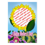 Yellow Sunflower Photo Frame for Mother's Day Business Cards