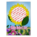 Yellow Sunflower Photo Frame for Mother's Day Greeting Cards