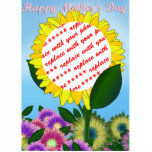 Yellow Sunflower Photo Frame for Mother's Day Acrylic Cut Out