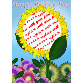 Yellow Sunflower Photo Frame for Mother's Day Statuette