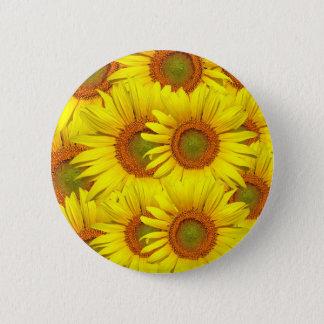 Yellow Sunflower Pinback Button