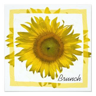 Yellow Sunflower Post Wedding Brunch Card