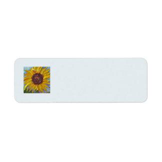 Yellow Sunflower Return Address Label