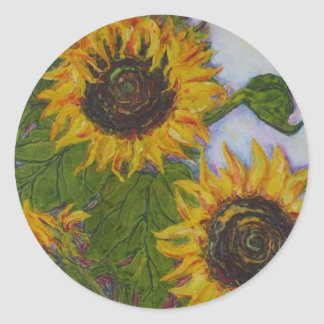 Yellow Sunflower Return Sticker