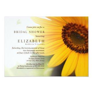 Summer Sunflower Bridal Shower Invitations