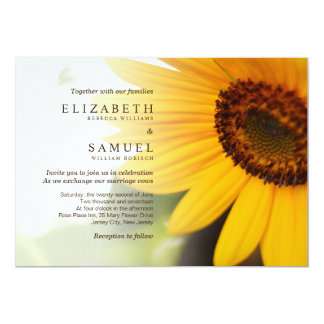 Yellow Sunflower Summer Wedding Invitation