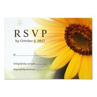 Summer Sunflower RSVP Cards