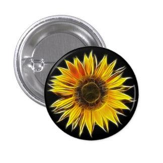 Yellow Sunflower Sun Flower Plant Button