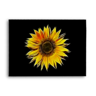 Yellow Sunflower Sun Flower Plant Envelope