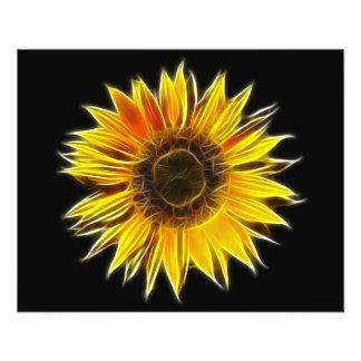 Yellow Sunflower Sun Flower Plant Full Color Flyer