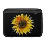 Yellow Sunflower Sun Flower Plant Sleeves For MacBook Air
