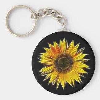 Yellow Sunflower Sun Flower Plant Keychain
