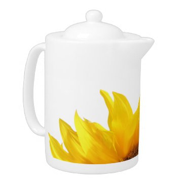 Coffee Themed yellow sunflower tea/coffee pot teapot
