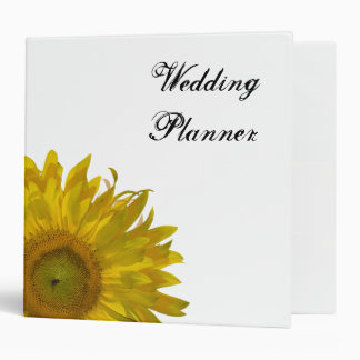 Yellow Sunflower Wedding 2 Inch Binder