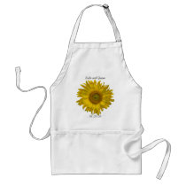 Yellow Sunflower Wedding Adult Apron