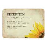 Yellow Sunflower Wedding Insert Card