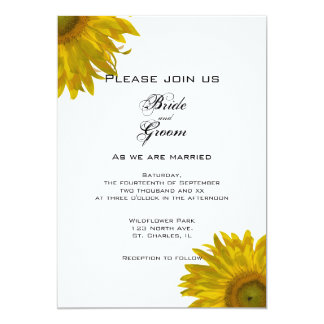 Yellow Sunflower Wedding Invitation
