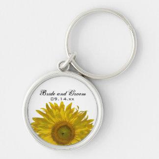 Yellow Sunflower Wedding Keychain