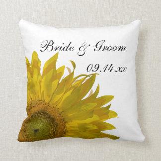 Yellow Sunflower Wedding Pillow