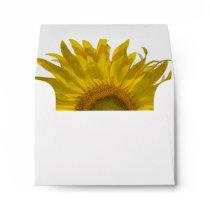 Yellow Sunflower Wedding R.S.V.P. Response Envelope
