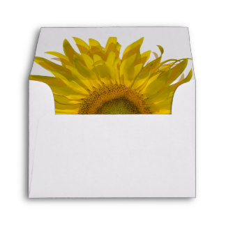 Yellow Sunflower Wedding R.S.V.P. Response Envelope