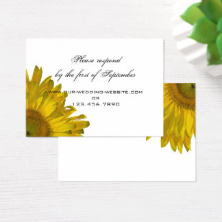 Yellow Sunflower Wedding RSVP Response Card