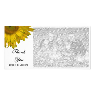 Yellow Sunflower Wedding Thank You Card