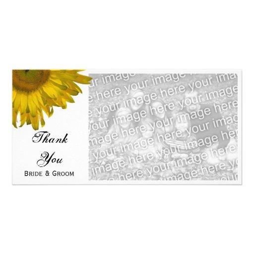 Yellow Sunflower Wedding Thank You Card