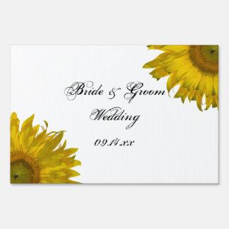 Yellow Sunflower Wedding Yard Sign