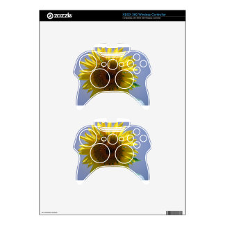 Yellow Sunflower Xbox 360 Controller Skins